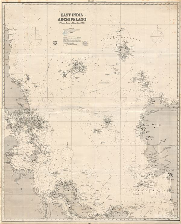 East India Archipelago (Western Route to China Chart no. 2) - Main View