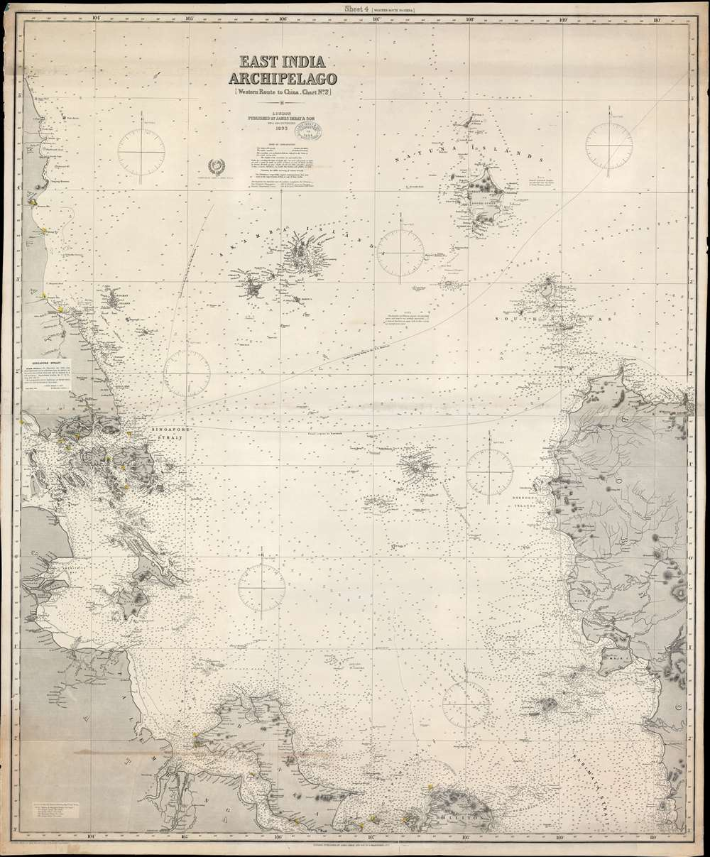 East India Archipelago [Western Route to China Chart no. 2]