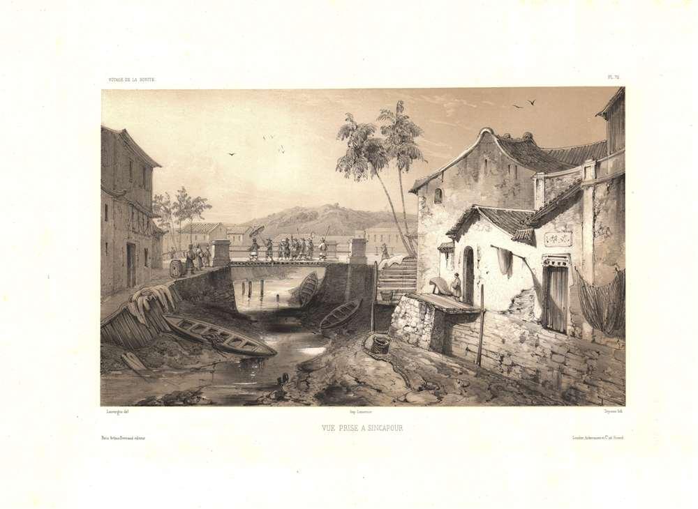 1841 Lauvergne View of the Singapore River, Singapore