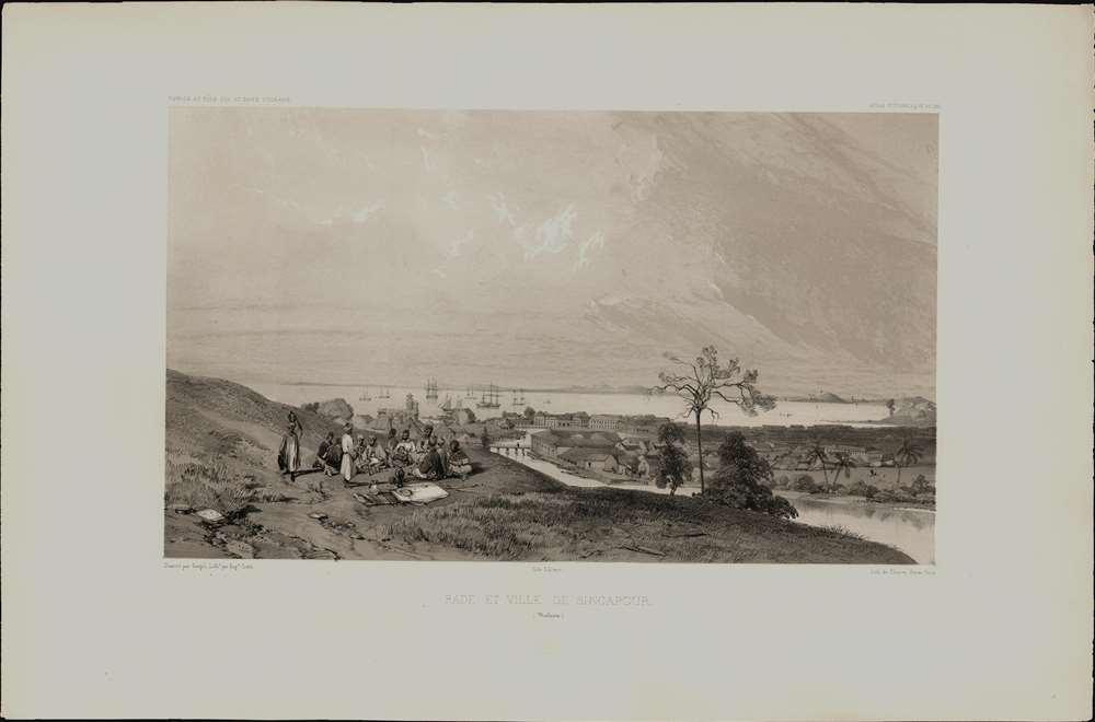 Rade et Ville de Sincapour. (Malaisie). - Alternate View 1
