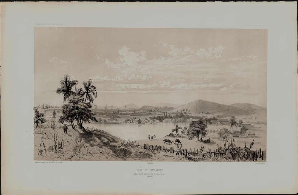 Rade de Sincapour Prise de la maison du Gouverneur. (Malaisie). - Alternate View 1