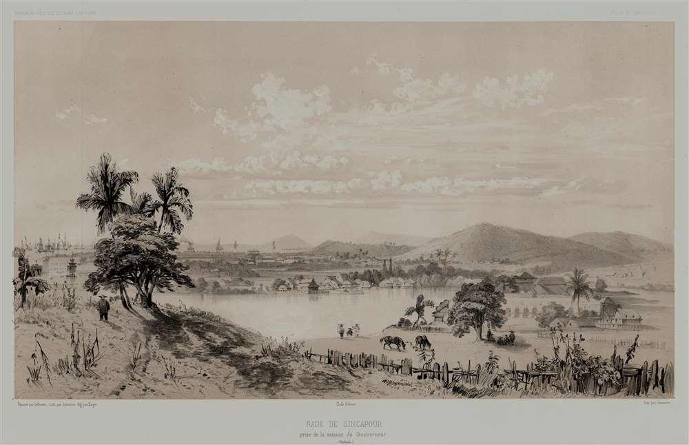 Rade de Sincapour Prise de la maison du Gouverneur. (Malaisie). - Main View