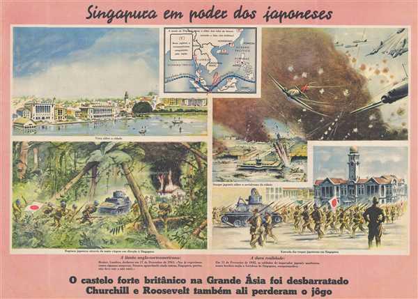 Singapura em poder dos Japoneses.