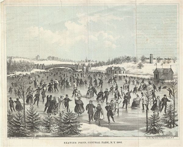 Skating Pond, Central Park, N.Y. 1861. - Main View