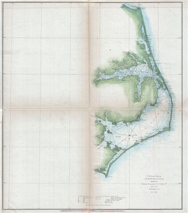 Sketch D Showing the progress of Section IV 1845 to 1851. - Main View