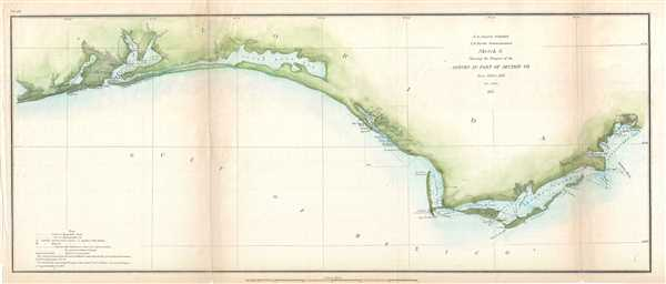 Sketch G Showing the Progress of the Survey in Part of Section VII From 1849 to 1855.