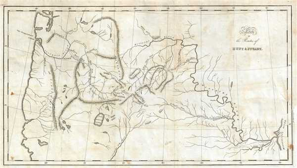 Sketch of the Routes of Hunt and Stuart.