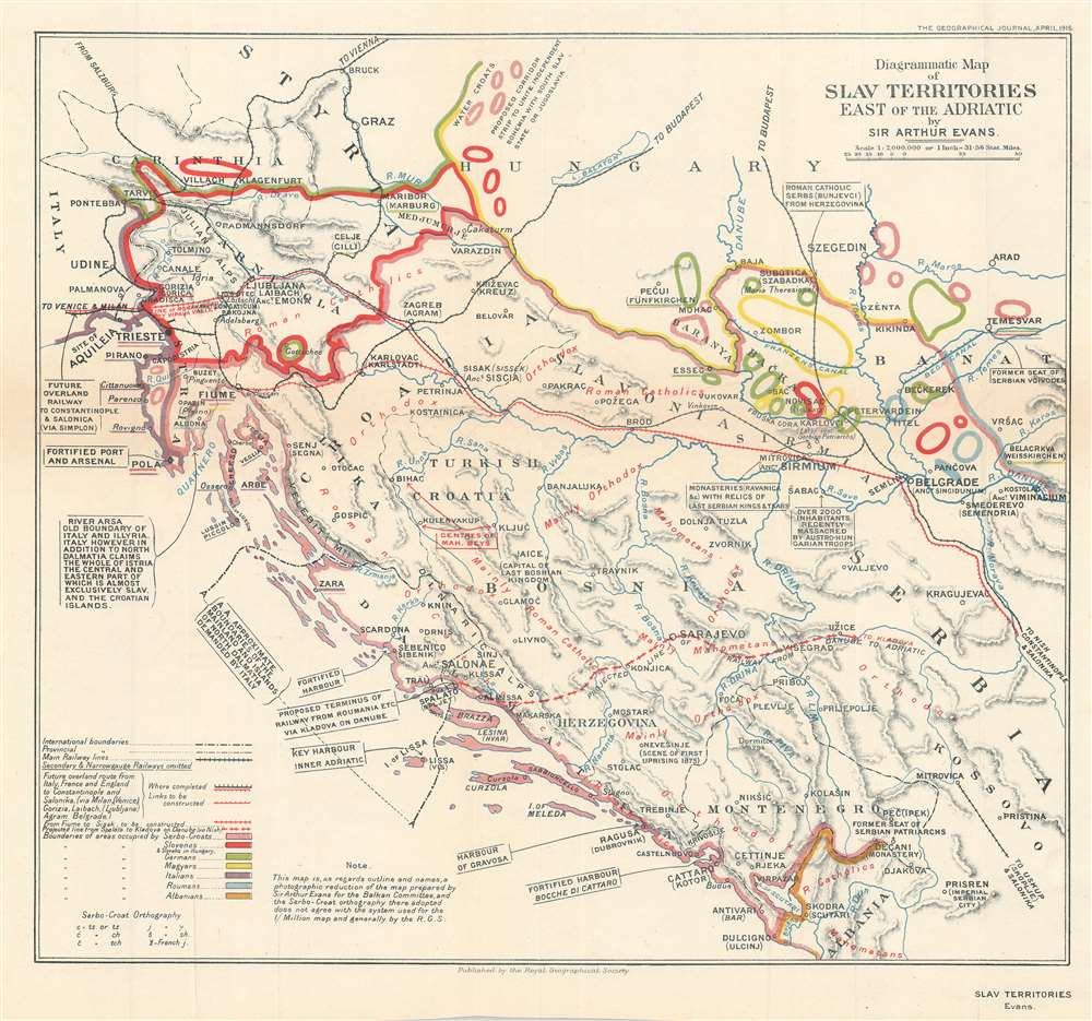 Diagrammatic Map of Slav Territories East of the Adriatic. - Main View