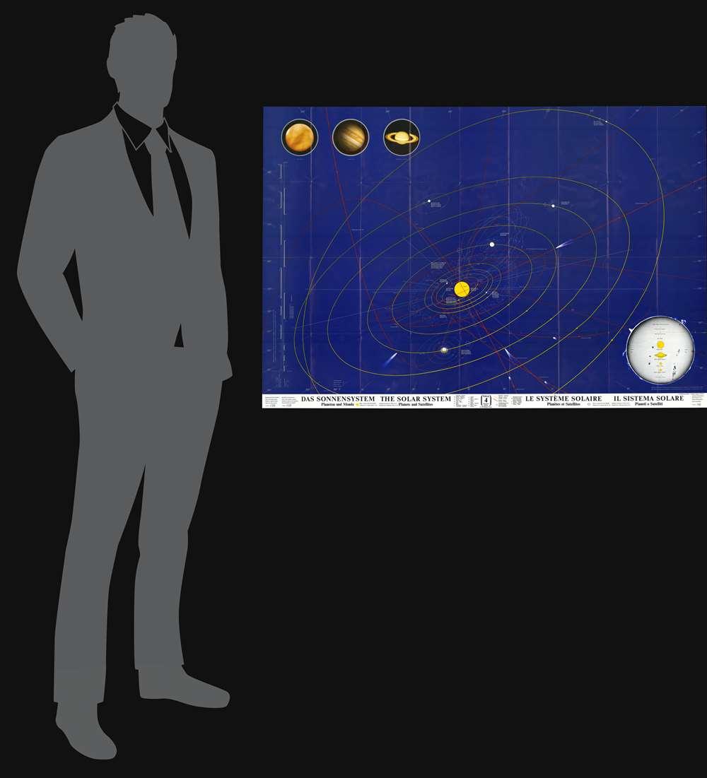 Das Sonnensystem : Planeten und Monde - The Solar System : Planets and Satellites - Le Système Solaire : Planètes et Satellites - Il Sistema Solare : Pianeti e Satelliti. - Alternate View 1