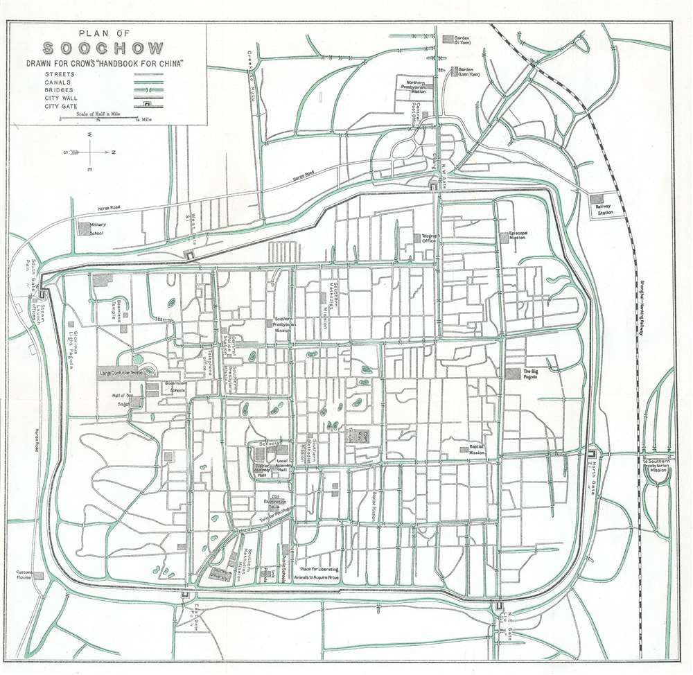 Plan of Soochow. Drawn for Crow's 'Handbook for China.' - Main View