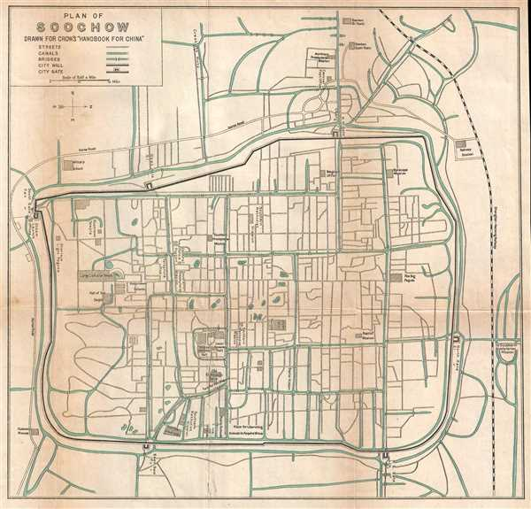 Plan of Soochow. Drawn for Crow's 'Handbook for China.'