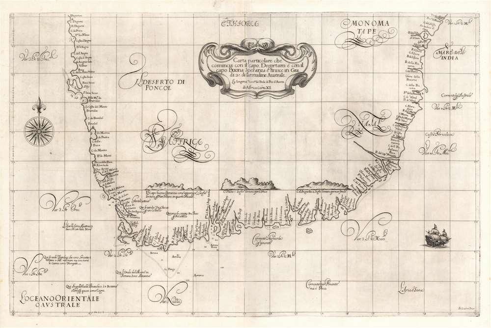 Carta particolare che comincia con il capo Degortam e con il capo Buona Speranza e finisce in gradi 27 di latitudine Australe. - Main View