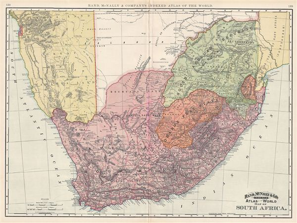 Map of South Africa.
