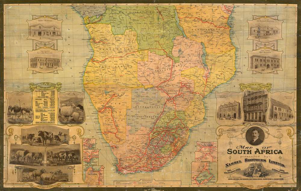 Map of South Africa presented by Sammel Brothers Limited. - Main View