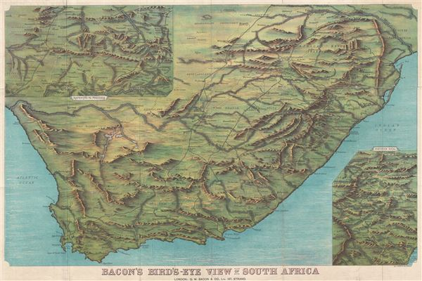 Bacon's Bird's-Eye View of South Africa. - Main View