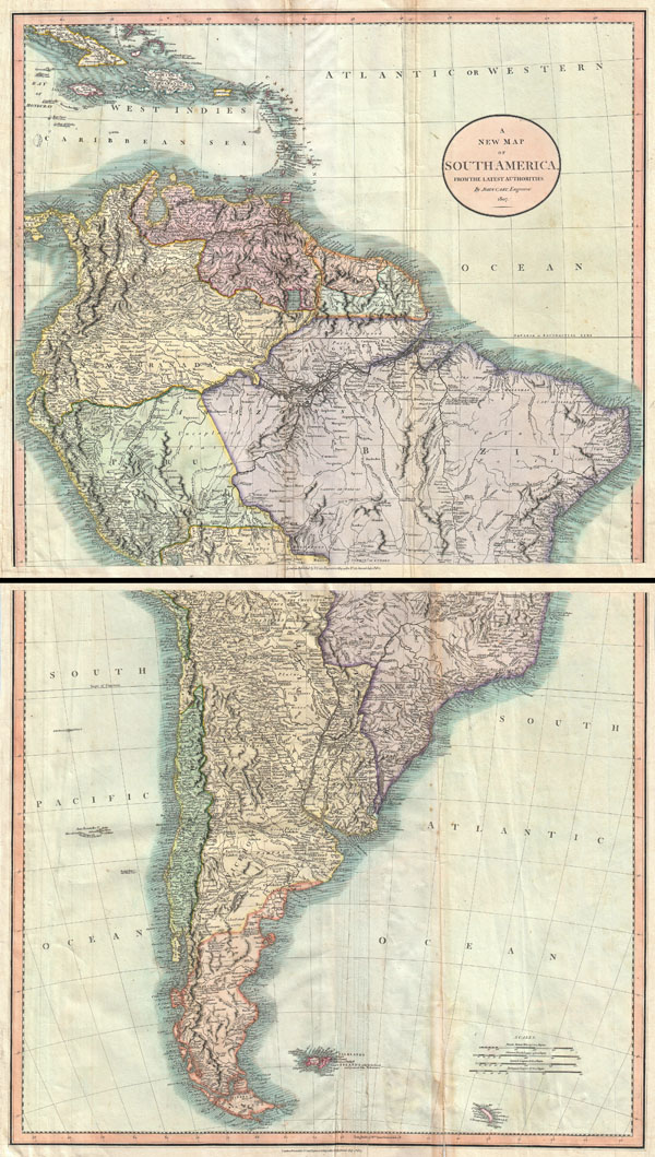 A New Map of South America, From  the Latest Authorities.