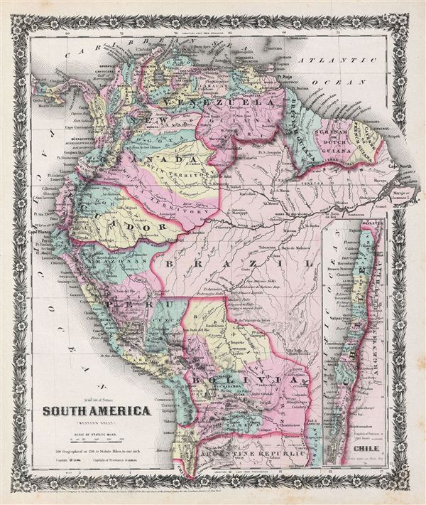 South America (western sheet). - Main View