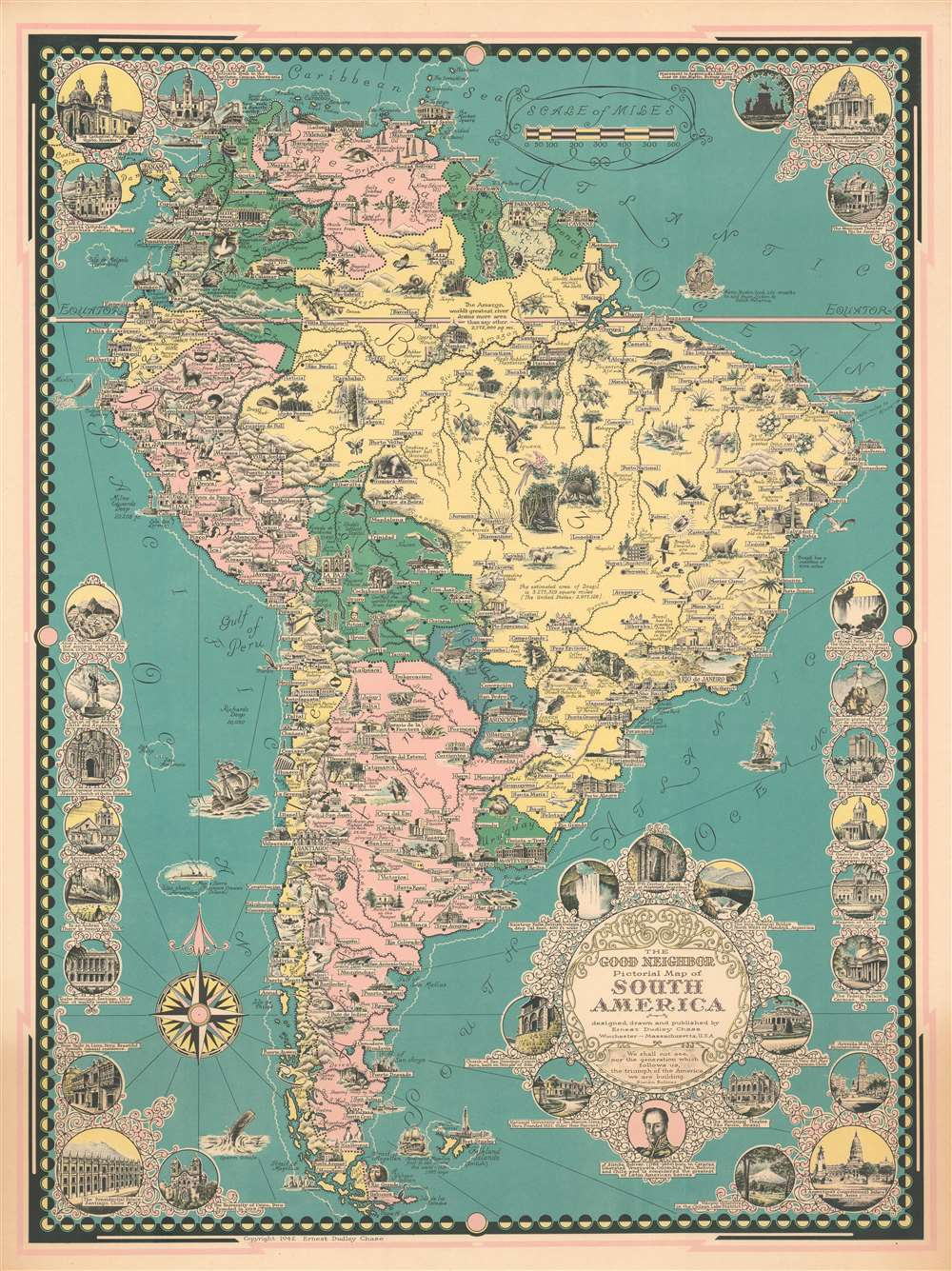 The Good Neighbor Pictorial Map of South America.