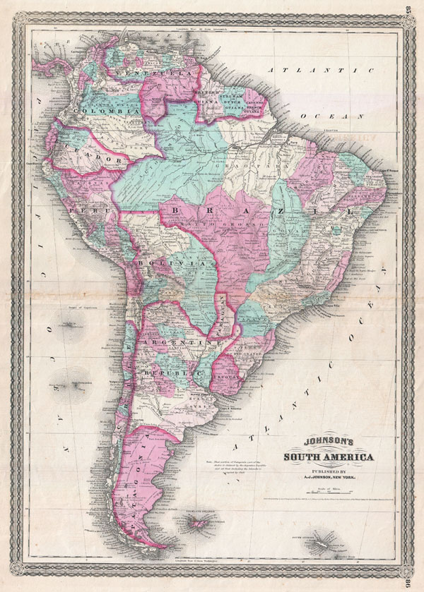 Johnson's South America. - Main View