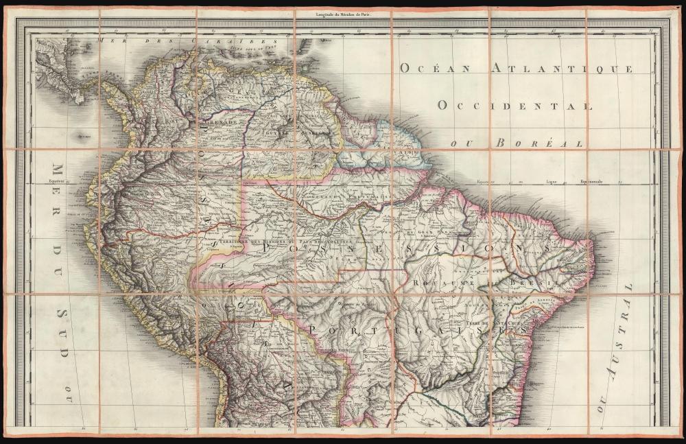A Map of South America. / Carte de L'Amérique Méridionale. - Alternate View 2