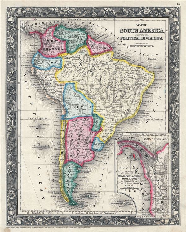 Map Of South America Showing Its Political Divisions Geographicus
