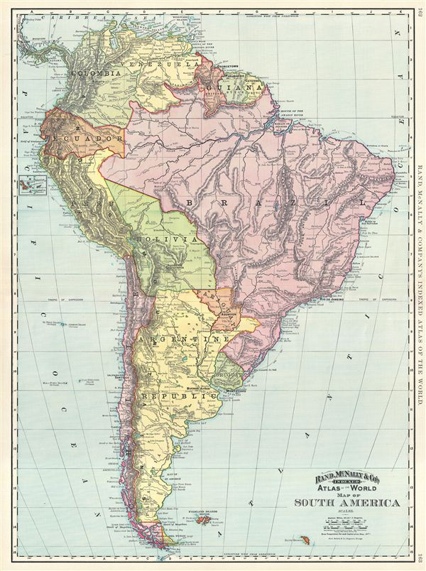 Map of South America Geographicus Rare Antique Maps