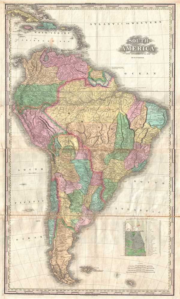 South America.: Geographicus Rare Antique Maps
