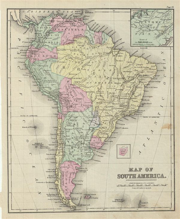 Map of South America. - Main View