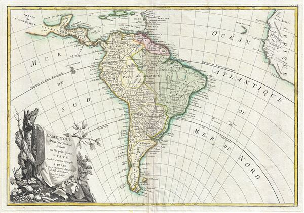 l'Amerique Meridionale divisee en ses principaux Etats. - Main View