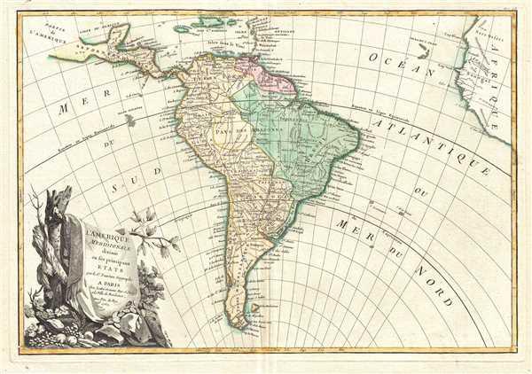 L'Amerique Meridionale divisée en ses principaux Etats.