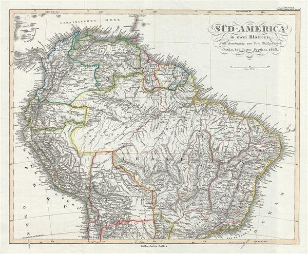 Sud-America in zwei Blatten.