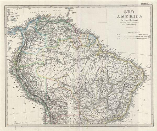 Sud-America in zwei Blattern.