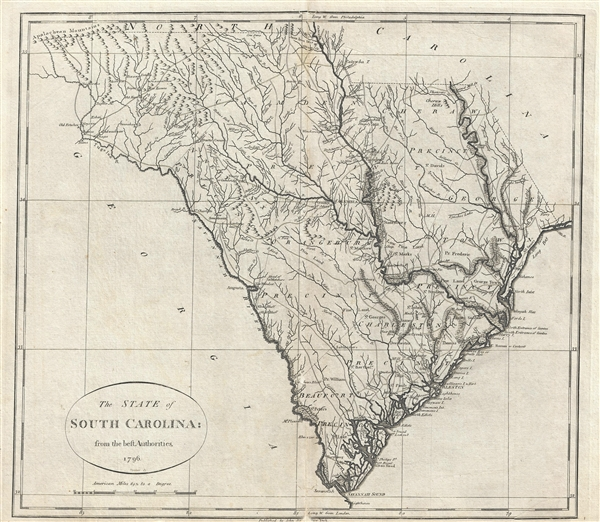 The State of South Carolina: from the best Authorities. 1796.