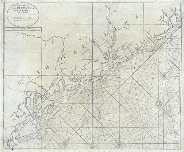 A Large Draft of South Carolina from Cape Roman to Port Royall.