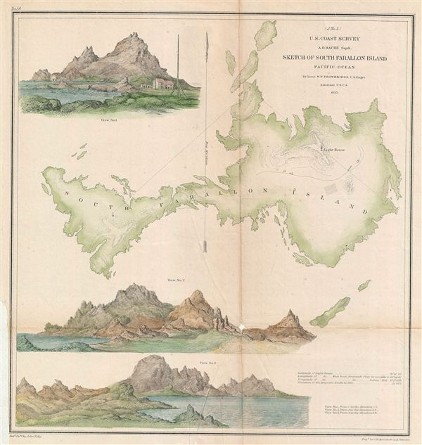 (J. No. 5) Sketch of South Farallon Island Pacific Ocean. - Main View