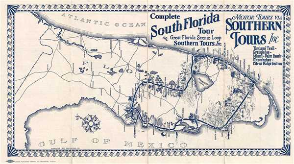 Complete Map Of Florida.Complete South Florida Tour On Great Florida Scenic Loop Southern