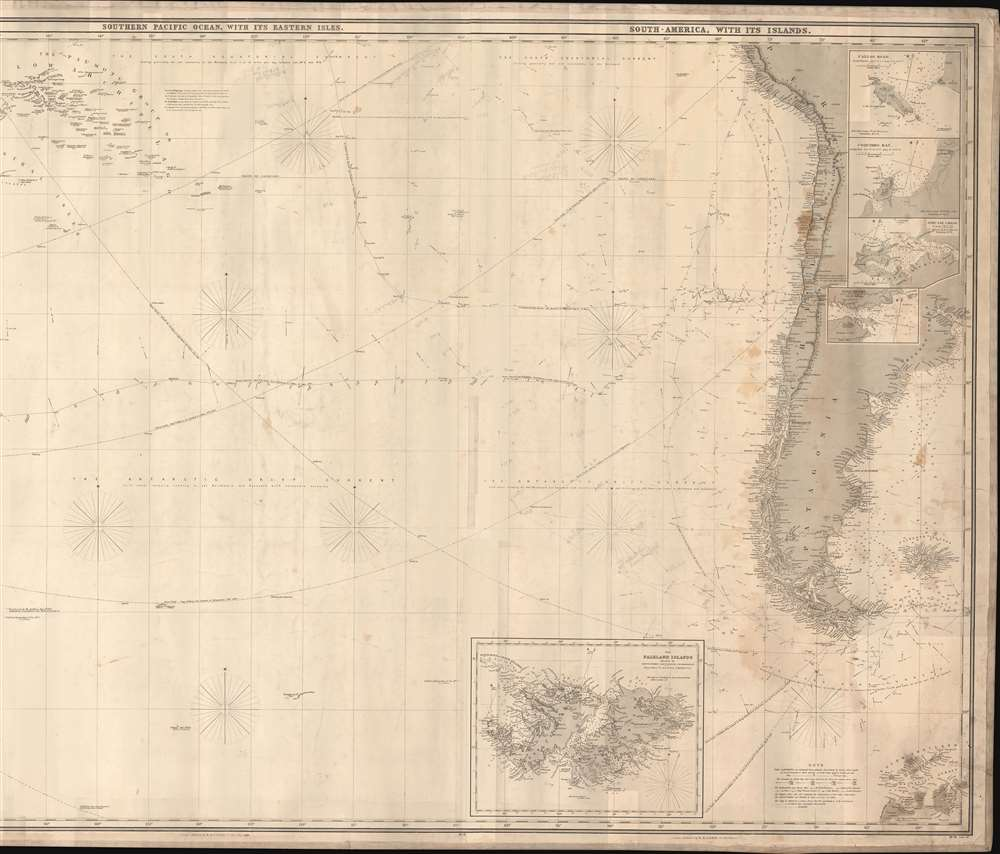 This Chart of the Indian and Pacific Oceans, compiled chiefly from Documents deposited in the Hydrographic Office of the British Admiralty is respectfully dedicated to Adm. Sir. F. Beaufort, F. R. L. ... - Alternate View 3