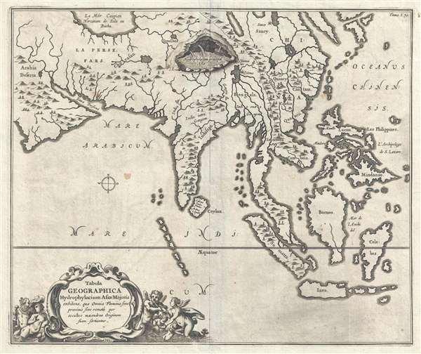 Tabula Geographica Hydrophylacium Asiae Majoris exhibens, quo Omnia Flumina sive proximè sive remotè per occultos meandros Originem suam sortiuntur.
