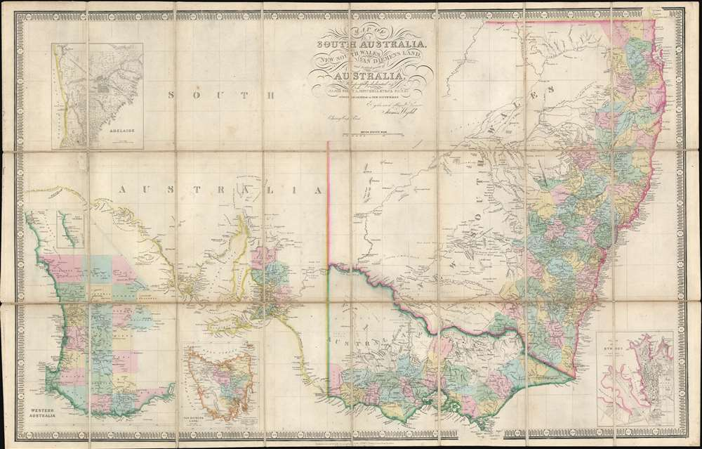Map of South Australia, New South Wales, Van Diemens Land, and Settled parts of Australia. - Main View