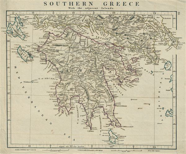 Southern Greece With the adjacent Islands.