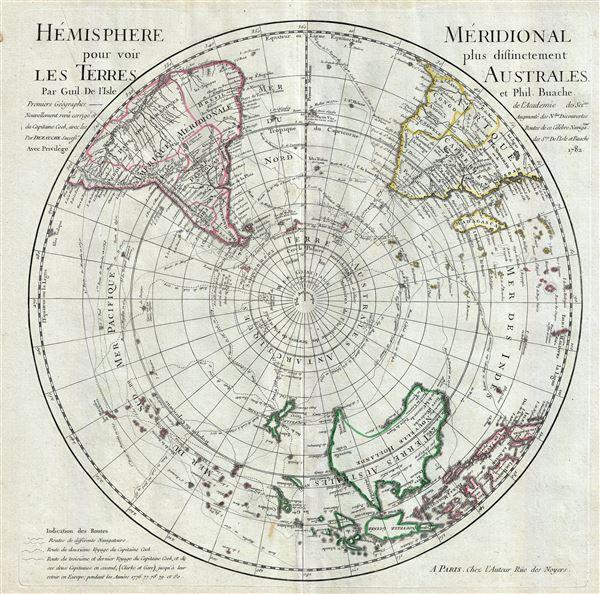 L'Hemisphere Meridional pour voir plus distinctement Les Terres Australes.