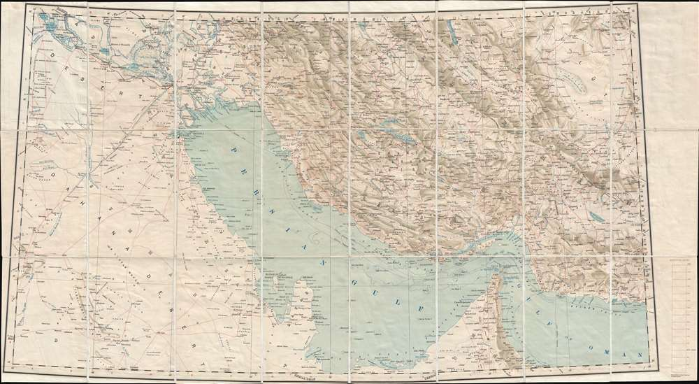 Map Of Asia 1930.Persia Arabia And Turkey In Asia Geographicus Rare Antique Maps