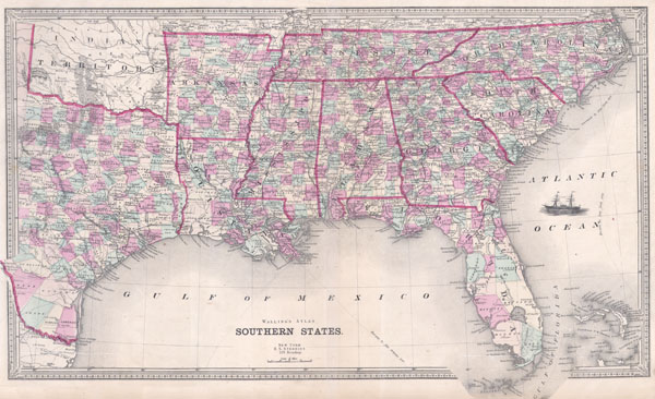Southern States Geographicus Rare Antique Maps - Map of southern texas