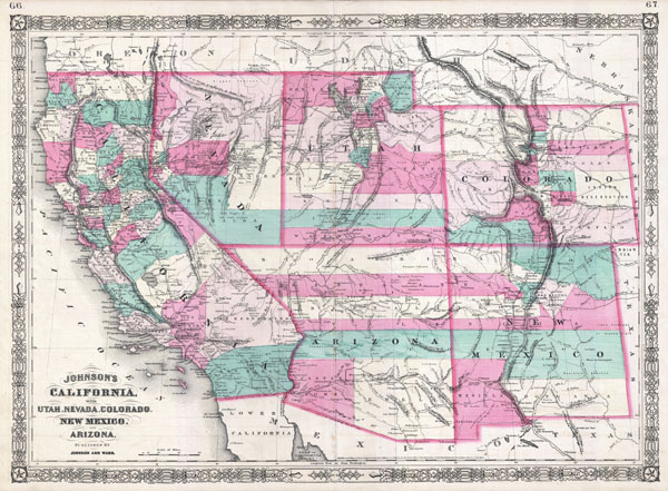 Johnson's California, with Utah, Nevada, Colorado, New Mexico and Arizona.
