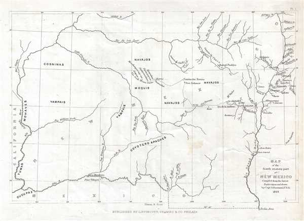 Map of the South western part of New Mexico. - Main View