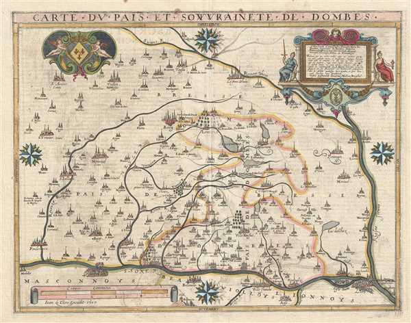 Carte du Pais et Souvrainete de Dombes.