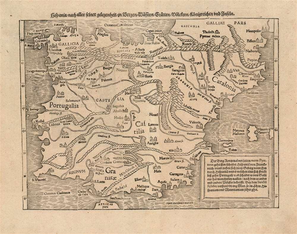 Hispania nach aller seiner gelegenheit in Bergen, Wåssern, Ståtten, Vólckern, Konigreichen und Inseln. - Main View