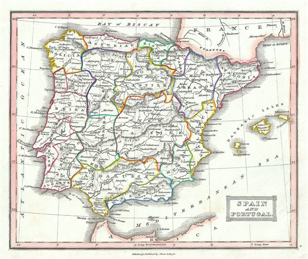 Spain and Portugal. - Main View