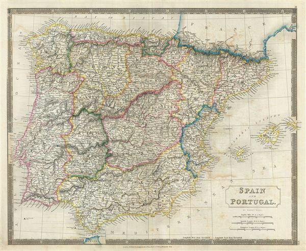 Map Of Spain Portugal.Spain And Portugal Geographicus Rare Antique Maps