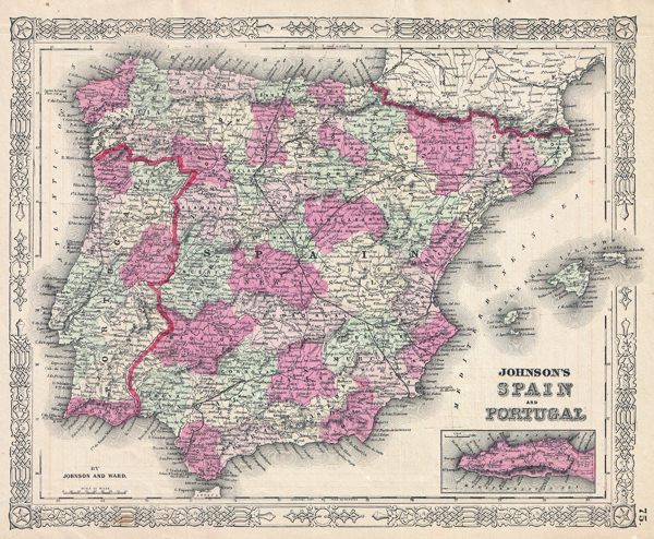 Johnson's Spain and Portugal. - Main View